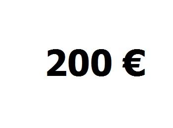 Lainaa 200 euroa.