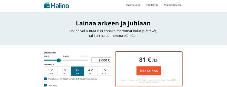 Halino.fi - Hae edullista lainaa netistä!