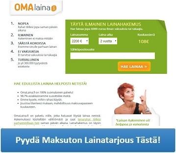 Omalaina.fi - Helpoin tapa hakea lainaa?