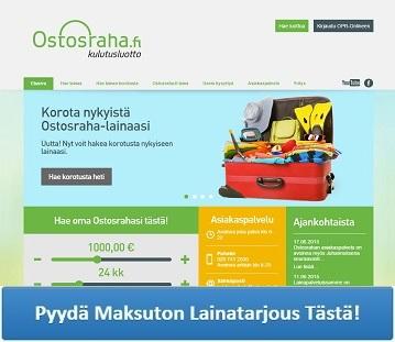 Ostosraha.fi - Lainaa heti 400 - 3000 euroa.