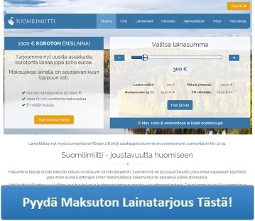 Suomilimiitti.fi - Saat 1000 euroa lainaa ilman kuluja ja korkoja!