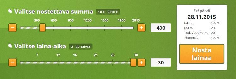 Vivus.fi palvelusta saat ensimmäisen lainan ilman kuluja ja korkoja.