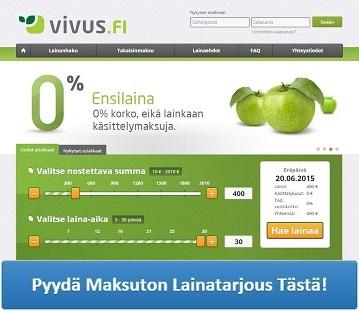 Vivus.fi - Hae kulutonta ja korotonta ensilainaa!