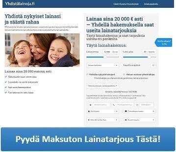 Yhdistälainoja.fi - Lainojen yhdistäminen on järkevää!