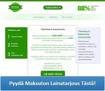 Yleislaina.fi palvelun lainatuote on perinteinen kulutusluotto!