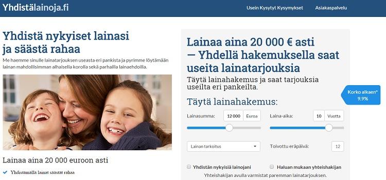 Yhdistälainoja.fi - Yhdistä useat lainat yhdeksi lainaksi!