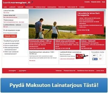 Bank Norwegian - Edullista pankkilainaa netistä!