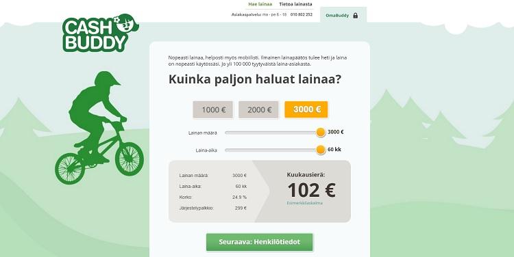 CashBuddy.fi - Edullista ja nopeaa lainaa netistä!