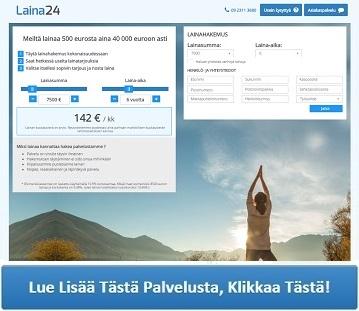 Lainaa24.fi neuvottelee sinulle halvimman lainan.