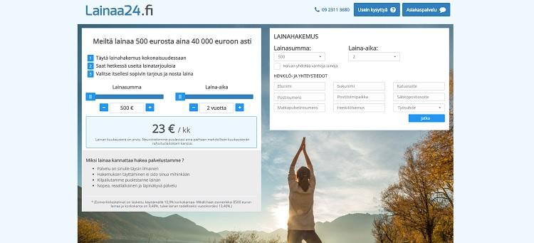 Lainaa24.fi on maksuton lainanvälityspalvelu netissä!