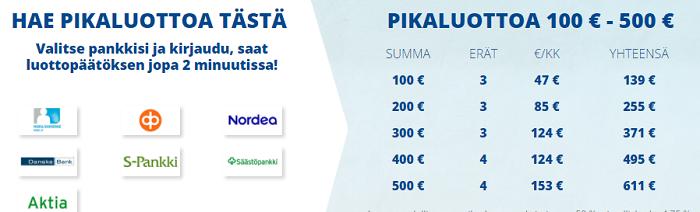 pikalaina 500 euroa