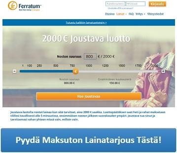 Ferratum Joustava on uusi ja monipuolinen kulutusluotto!
