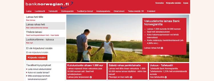 Hae Bank Norwegian luottokortti!