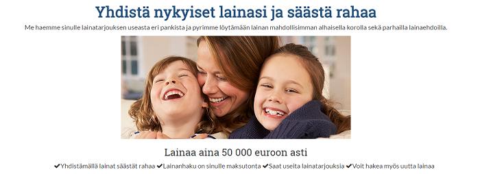 Yhdistäalainoja.fi kilpailuttaa lainan puolestasi!