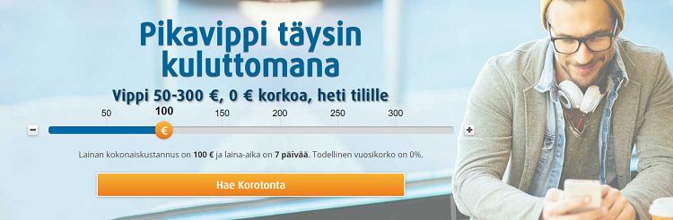 Pikalainaa 50 - 300 euroa.