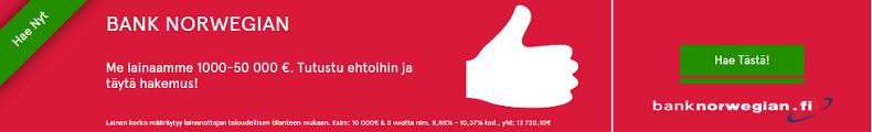 Hae edullista pankkilainaa Bank Norwegian pankista!