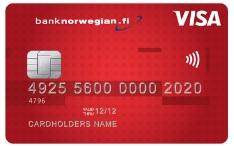 Bank Norwegian luottokortti näyttää tältä!