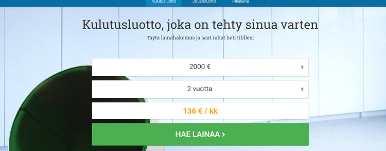 Lainasto. fi kulutusluotto. Lue lisää!
