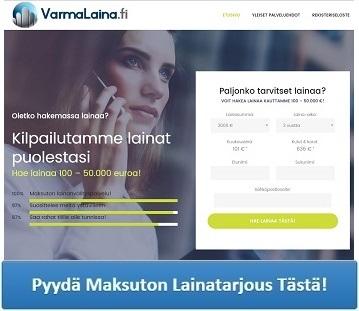 VarmaLaina.fi kilpailuttaa lainan puolestasi useiden pankkien välillä.