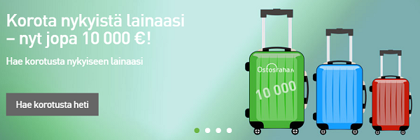 Ostosraha.fi lainaa hyvillä eduilla!