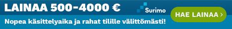 Surimo.fi - Edullista kertalainaa 500 - 4000 euroa