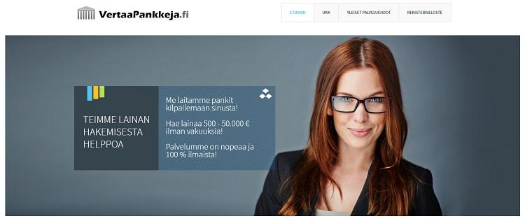 VertaaPankkeja.fi - Kilpailuttaa lainan puolestasi.