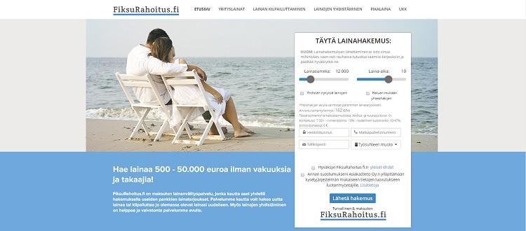 FiksuRahoitus - Lainaa ilman vakuuksia 500 - 50.000 euroa.
