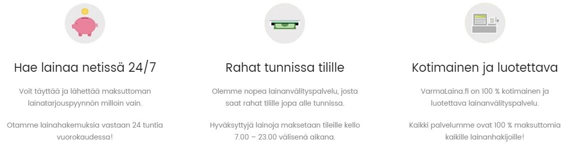 VarmaLaina. fi kilpailuttaa lainan puolestasi jo tänään!