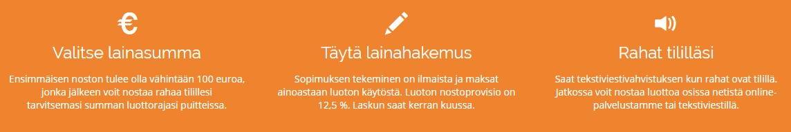 Netistälainaa.fi lainaa 100 - 2250 euroa.