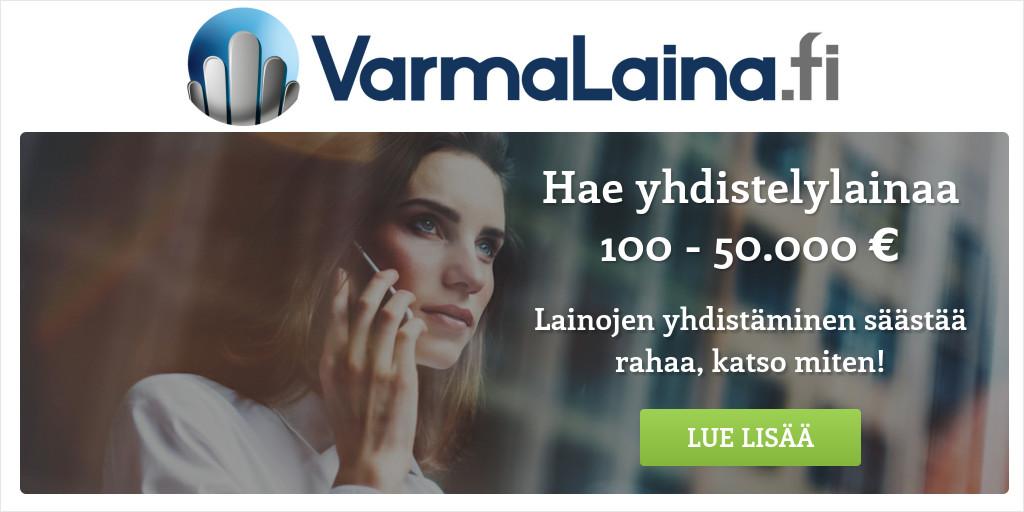 Lainojen yhdistäminen on aina järkevää!   VarmaLaina.fi