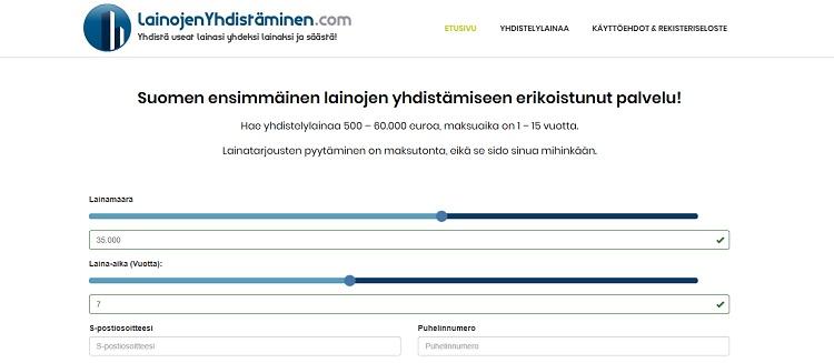 LainojenYhdistäminen.com auttaa lainojen yhdistämisessä!