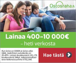 Hae lainaa Ostosraha.fi palvelusta!