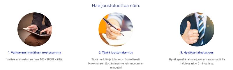 Vippi.fi joustoluottoa vapaaseen käyttöösi!