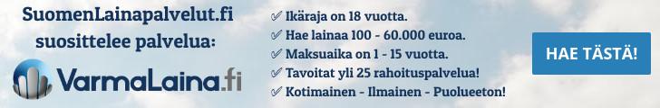 Hae edullista lainaa VarmaLaina.fi palvelusta!