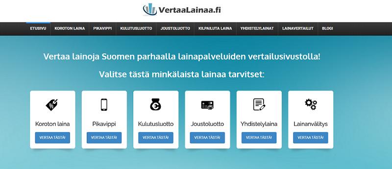 VertaaLainaa.fi auttaa lainojen vertailussa!