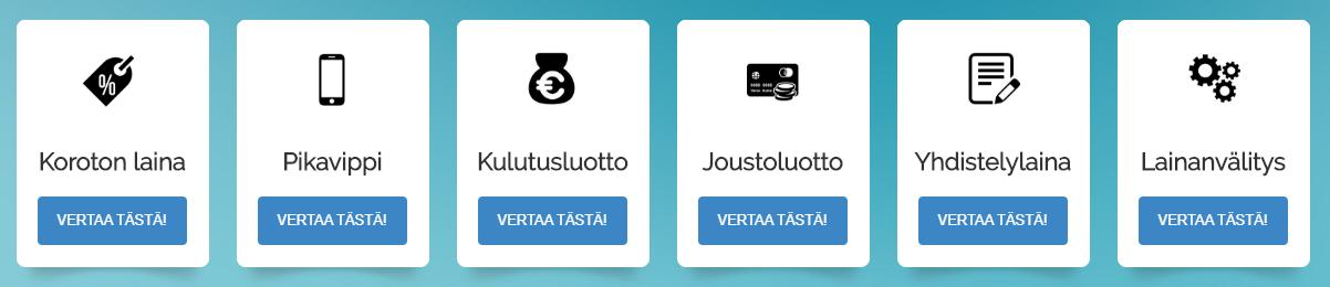VertaaLainaa.fi palvelusta löydät kaikki Suomen luotettavimmat lainapalvelut.
