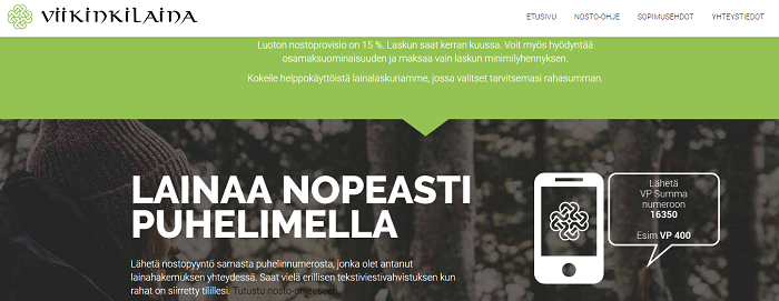 Viikinkilaina.fi lainaa hyvillä eduilla.