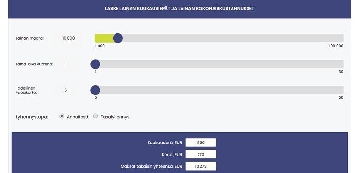 VarmaLaina.fi / Lainalaskuri