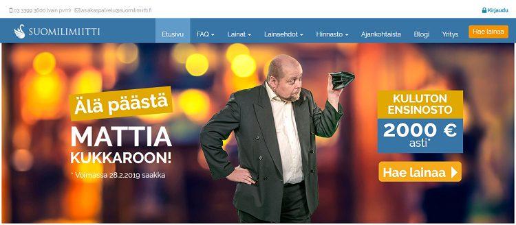 Suomilimiitti.fi - Koroton 2000 euron ensilaina