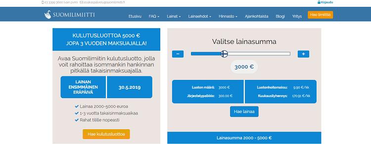 Suomilimiitti kulutusluotto