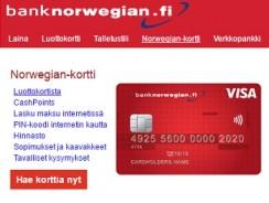 Bank Norwegian luottokortti